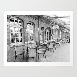 Cafe in Germany Art Print