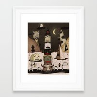 totem Framed Art Prints featuring Totem by Ronnie Rivera