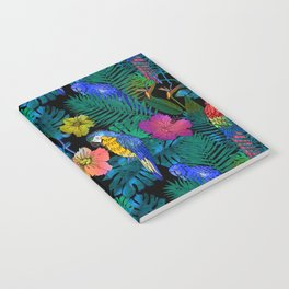 Tropical Birds and Botanicals Notebook