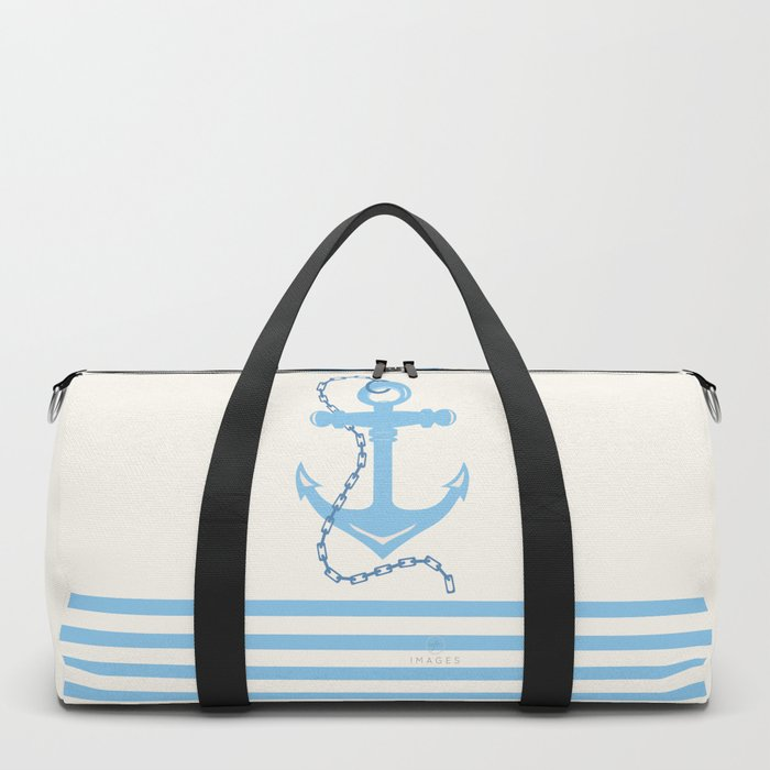 AFE Baby Blue Anchor & Chain Duffle Bag