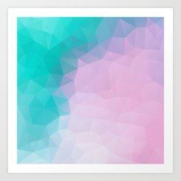 """Turquoise pink mood"" Art Print"