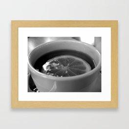 Lemon Tea Framed Art Print