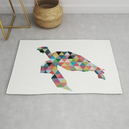 Colorful Geometric Turtle Rug