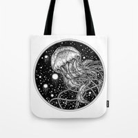 jellyfish Tote Bags featuring Jellyfish by Corinne Elyse