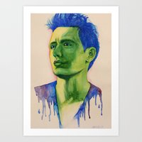 james franco Art Prints featuring James Franco by Kristy Holding