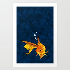 A fish! A fish! A fishy... OH!! Art Print