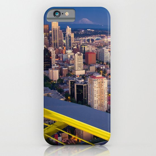 Seattle in the Evening, from the Space Needle iPhone & iPod Case