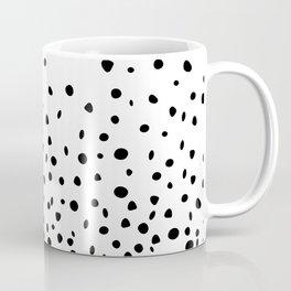 Black Polka Dot Rain Coffee Mug