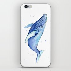 Humpback Whale Watercolor Animal Painting Nursery Animals iPhone & iPod Skin