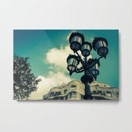 Aqua Lights Metal Print