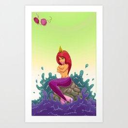 Oups la sirène  Art Print