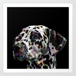 Rainbow Dalmatian Art Print