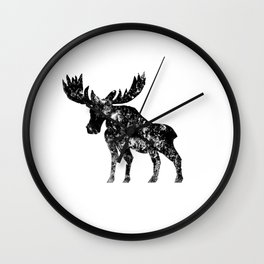 Weathered Moose  Wall Clock