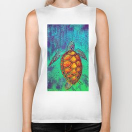 Swim in Eternal Seas Biker Tank