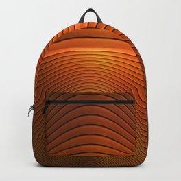 Orange Sine Wave Backpack
