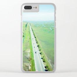 Beach Road Clear iPhone Case