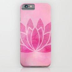 Watercolor Lotus Flower Yoga Zen Meditation Slim Case iPhone 6s