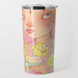 Orange Fluffy Travel Mug