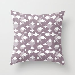 Sea of Cortez Lavender Grey Rays Pattern Throw Pillow