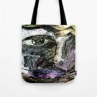 henna Tote Bags featuring Henna Man by John Hansen