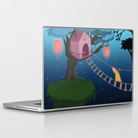 climbing Laptop & iPad Skins featuring Climbing by Loezelot