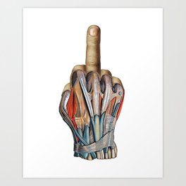 One Finger Salute Art Print