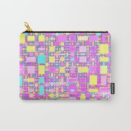Wild Pastel Cubes Carry-All Pouch