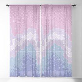 Bigender Pride Flag Galaxy Sheer Curtain