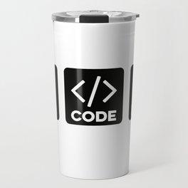Beer Code Beer Travel Mug