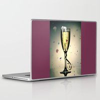 champagne Laptop & iPad Skins featuring Champagne by CokecinL