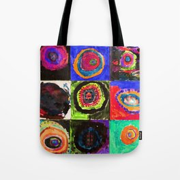 Circles in Neon Blue Tote Bag