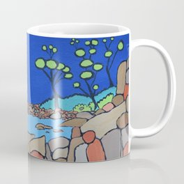 Bay of Fires Tasmania  Ocean Beach Coffee Mug