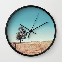 Outback Gate Wall Clock