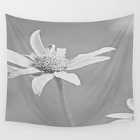 michigan Wall Tapestries featuring MICHIGAN DAISY  by Alex Kakabaker