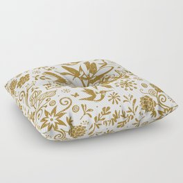 Oh, beautiful garden of mine Floor Pillow