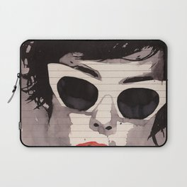 Cleverly - Feminine portrait ink drawing Laptop Sleeve