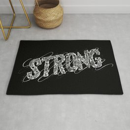 STRONG (White type) Rug