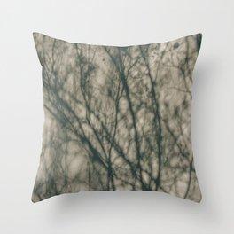 Shadows of Winter Foliage Throw Pillow