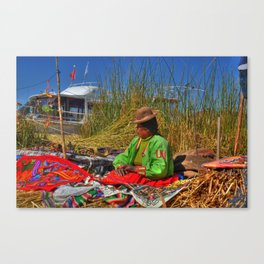 Uros Woman Canvas Print