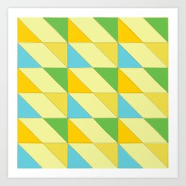 triangle shift - lemonade forest | flavour-based graphic pattern Art Print