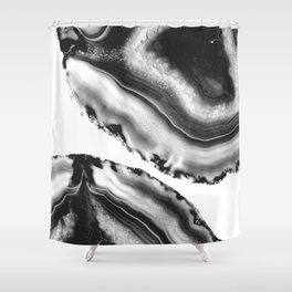 Gray Black White Agate #2 #gem #decor #art #society6 Shower Curtain