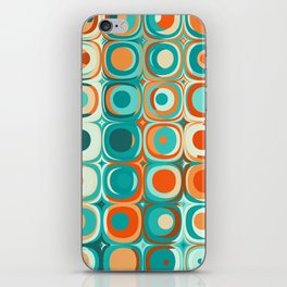 Orange and Turquoise Dots iPhone Skin