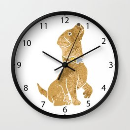 dog sitting. adopt a pet. Wall Clock