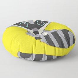 Forest Raccoon Nursery Set Floor Pillow