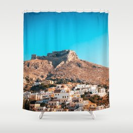 The castle of Leros Shower Curtain