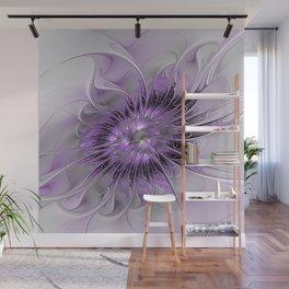 Lilac Fantasy Flower, Fractal Art Wall Mural
