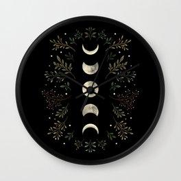 Moonlight Garden - Olive Green Wall Clock