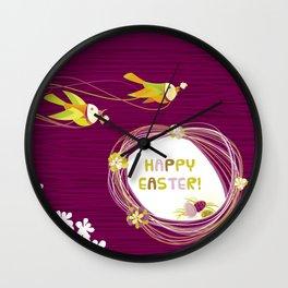 Easter Birds Wall Clock