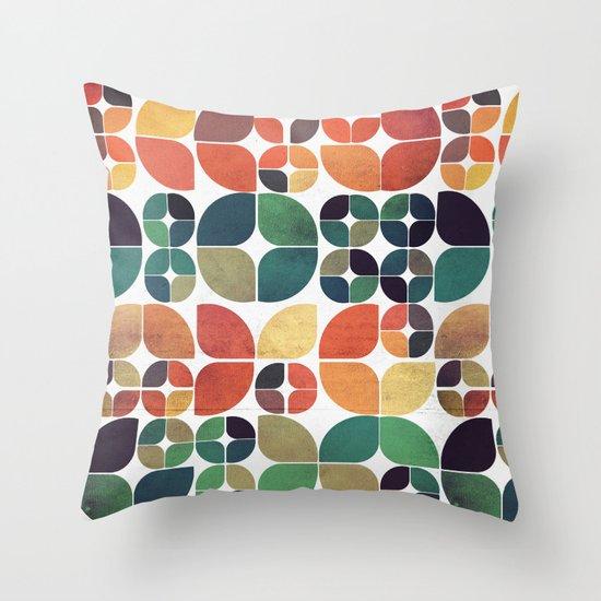 Vintage Fall Pattern Throw Pillow