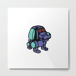 Robo-Dog Metal Print